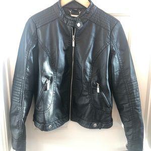 🖤 JouJou Faux Leather Motto Jacket 🖤